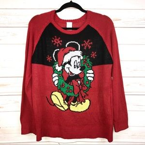 Disney's Mickey Mouse Holiday Christmas Sweater L